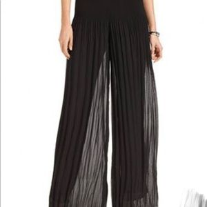Alfani pleated palazzo pants in black size M